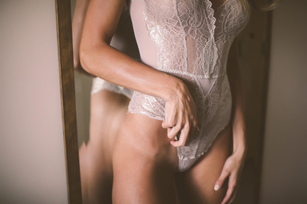 sexy woman wearing lingerie