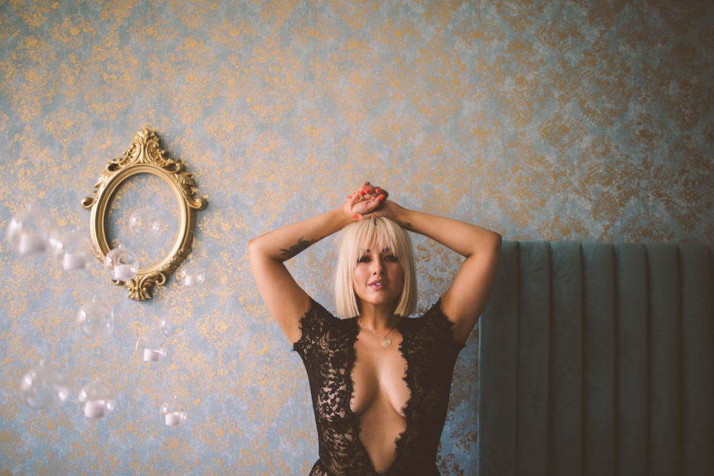 chinae alexander boudoir shoot