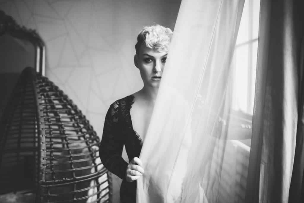 woman posing for a portrait