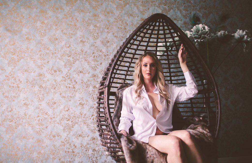 boudoir in a shirt