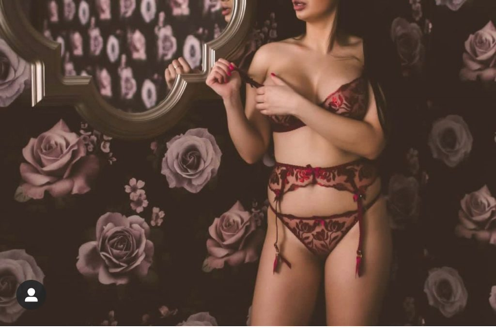 NYC model wearing Agent Provocateur at a boudoir session