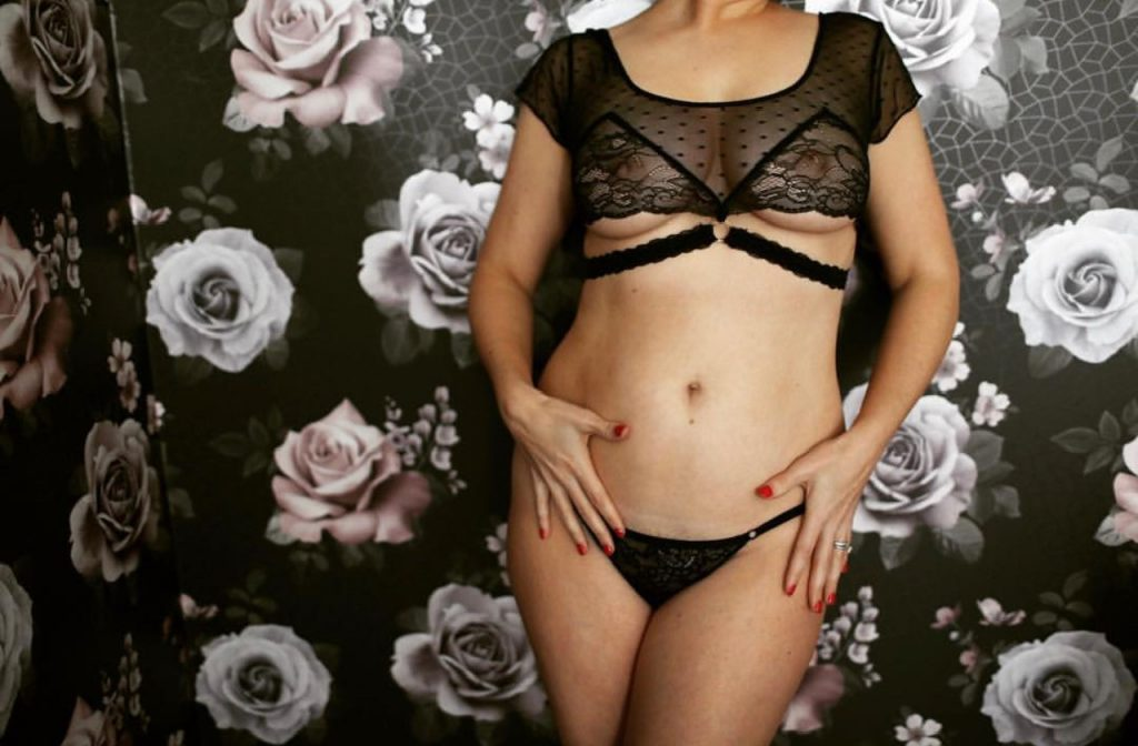 Bluebella boudoir lingerie worn at a boudoir shoot