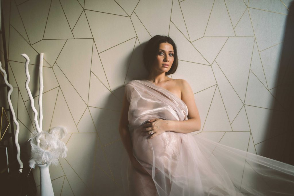 pregnancy glow at a nyc boudoir photoshoot